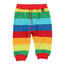 Online Baby Clothing Stores Molo Rainbow Stripe Baggy Pants Retro Baby Clothes Baby Boy