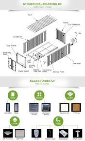 top sales light steel prefabricated 40ft container house floor