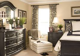 Patterned Window Curtains Exciting Bedroom Decoration With Bedroom Window Treatment