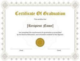 sample graduation certificate sample graduation certificate