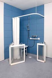 Disabled Half Height Shower Doors Half Height Shower Doors With Fixed Panel Finished In Silver With