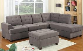 Grey Tufted Sofa by 2 Piece Modern Reversible Grey Tufted Microfiber Sectional Sofa