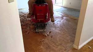 glued engineered wood floor removal