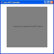 layout manager tutorialspoint awt window class