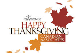 happy thanksgiving canadian isagenix associates isafyi