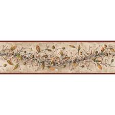 Prepasted Wallpaper Shop Inspired By Color 6 In Khaki Prepasted Wallpaper Border At