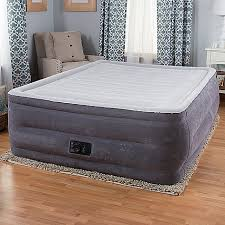 intex beds intex comfort plush high rise profile air mattress w built in pump