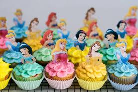 disney princess cupcakes with sprinkles on top