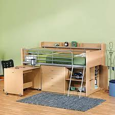 lit surélevé avec bureau lit mezzanine avec bureau pratique et efficace lit mezzanine enfant
