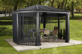 Patio Gazebo Sojag Komodo 15 Ft W X 12 Ft D Aluminum Patio Gazebo Reviews