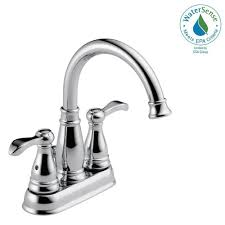 delta porter 4 in centerset 2 handle bathroom faucet in chrome