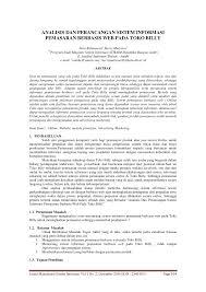 cara membuat batasan masalah yang benar analisis dan perancangan sistem informasi pdf download available