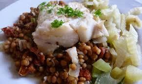 cuisiner poisson blanc poisson blanc aux lentilles recette az