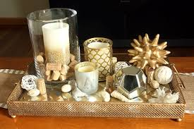 Gold Table Centerpieces by Coffee Table Decor For Everyday With Gold Mirror Tray