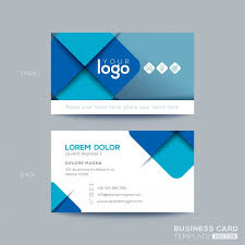 Bisness Card Design Clean And Simple Blue Business Card Design Vector Free Download
