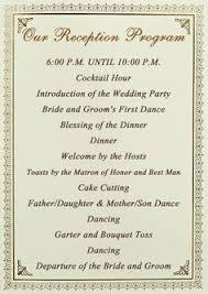 program for wedding reception reception program with decorations i had my wedding