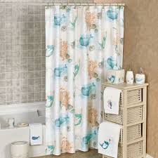 sea splash themed shower curtain
