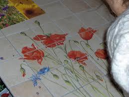 fresque carrelage mural maryline garbe carrelages peints à la main pour cuisine et salle