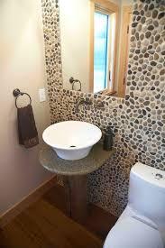 Polished Mixed Pebble Tile Bathroom Wall  Backsplash Pebble - Pebble backsplash