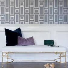 gray geometric bench cushion design ideas