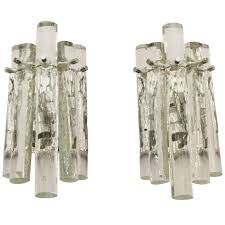 Crystal Wall Sconce by Kinkeldey Ice Stick Crystal Wall Sconces For Sale At 1stdibs