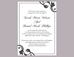 printable invitation templates diy wedding invitation template editable text word file