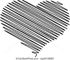 eps vector of heart pencil vector stylized heart pencil drawing