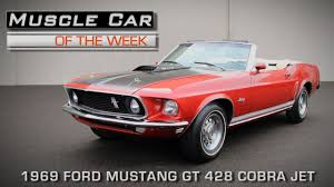 Ford Muscle Cars - muscle car of the week video episode 149 1969 ford mustang gt