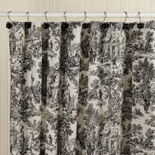 window treatments black and white french toile curtains black