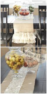 957 best creative craft ideas images on pinterest home easy diy reversible burlap and lace table runner
