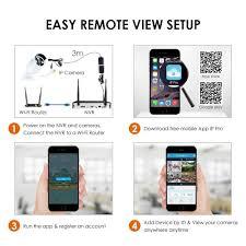 amazon com zosi 4pcs megapixel 720p wireless outdoor ip camera