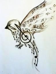 abstract small bird tattoo designs song bird tattoo design