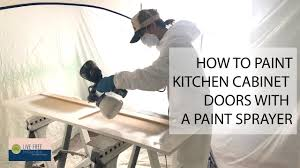 how to paint kitchen cabinets sprayer how to paint kitchen cabinets with a sprayer our richmond fixer