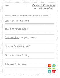 pronoun worksheet first grade pronoun worksheet for first grade
