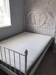 ikea leirvik double bed with hamarvik mattress ebay