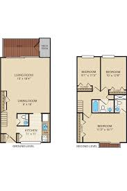three bedroom apartment u0026 townhome floor plans portabello