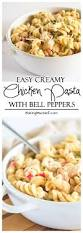 Creamy Pasta Salad Recipes Easy Creamy Chicken Pasta With Bell Peppers