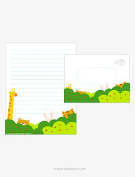 printable animal lined paper forest writing paper set mr printables bible pinterest