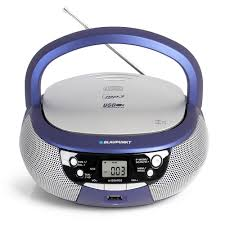 cd player kinderzimmer blaupunkt kinder cd player boombox in blau mit usb und pll radio