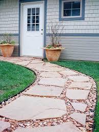 Walkway Ideas For Backyard 33 Flagstone And Gravel Walkway Ideas