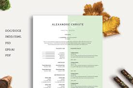 resume and cover letter resume cv cover letter resume templates creative market