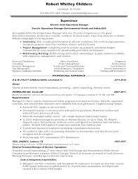 Plant Manager Resume Sample Resume For Electrician Job Sample News Reporter Resume