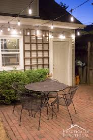 Patio Cafe Lights by Fall Patio Fix Up With String Lights