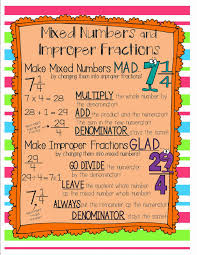 once upon a creative classroom improper fractions and mixed numbers