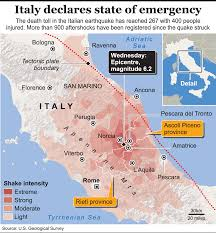 San Marino Italy Map by Disasters Italy Earthquake Infographic