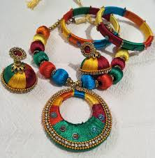 turquoise coloured necklace images Multi coloured necklace set kanchi fashions jpg