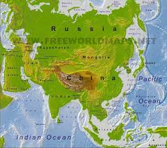 physical map of asia blank asia physical map freeworldmaps net