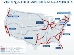new england central railroad map president annouces overdue high speed rail plan reconnecting america