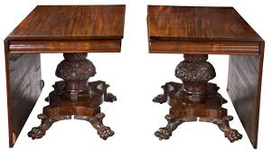 monumental pedestal classical mahogany dining room table