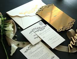 acrylic wedding invitations laser cut gold acrylic invitation for heidi mueller and